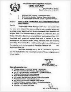 Salary Deduction Notification